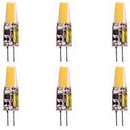 baratos Luzes LED de Dois Pinos-WeiXuan 6pcs 2W 160lm G4 Luminárias de LED  Duplo-Pin T 1 Contas LED COB Branco Quente Branco Frio 12V