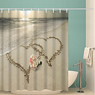 cheap Shower Curtains-Shower Curtains & Hooks Contemporary Polyester Novelty Waterproof Bathroom