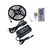 billiga Belysning-1x5M RGB-ljusslingor 300 lysdioder 1 44Kör fjärrkontrollen / 1 x 5A nätadapter RGB Klippbar / Vattentät / Dekorativ 12 V 1set