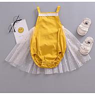 Dítě Dívčí Denní / Dovolená Patchwork Síťka Bez rukávů Bavlna / Polyester Bodysuit Žlutá / Roztomilý / Toddler