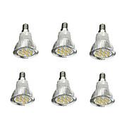 billige Spotlys med LED-6pcs 5W 380-420lm E14 LED-spotpærer 16 LED perler SMD 5630 Dekorativ Varm hvit 85-265V