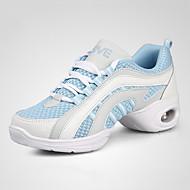 baratos Sapatilhas de Dança-Mulheres Tênis de Dança Courino Têni Sem Salto Personalizável Sapatos de Dança Vermelho / Azul marinho / Preto / Vermelho
