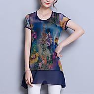 economico Top da donna-Blusa Per donna Essenziale Moda città Con stampe Collage,Fantasia floreale