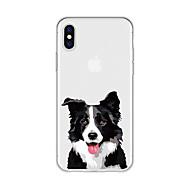 billiga Mobil cases & Skärmskydd-fodral Till Apple iPhone X / iPhone 8 Plus Mönster Skal Hund / Djur / Tecknat Mjukt TPU för iPhone X / iPhone 8 Plus / iPhone 8