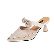お買い得  レディースフラットシューズ-女性用 靴 PUレザー 夏 コンフォートシューズ フラット ウォーキング ローヒール オープントゥ のために ブラック / ベージュ / イエロー