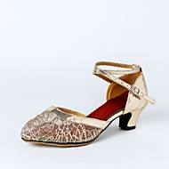 billige Moderne sko-Dame Moderne sko Kustomiserte materialer Høye hæler Kustomisert hæl Kan spesialtilpasses Dansesko Gull / Svart / Lilla / Innendørs