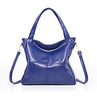 baratos Bolsas Tote-Mulheres Bolsas PU Tote Ziper Preto / Azul Escuro / Roxo
