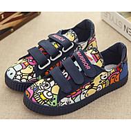 baratos Sapatos de Menina-Para Meninos / Para Meninas Sapatos Lona Primavera / Outono Conforto Tênis para Preto / Azul Escuro