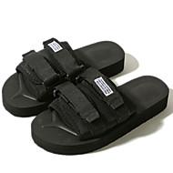 tanie Obuwie męskie-Męskie Buty Syntetyczny Lato Comfort Sandały na Casual Black