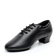billige Moderne sko-Herre Moderne Kunstlær Høye hæler Innendørs Profesjonell Lav hæl Svart 1 - 1 3/4inch Kan spesialtilpasses