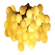billiga Belysning-6m Ljusslingor 40 lysdioder Varmvit Multifärg Dekorativ AA Batterier Drivs 1st