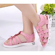 tanie Obuwie dziewczęce-Dla dziewczynek Buty PU Lato Buty dla małych druhen Comfort Sandały na Casual White Peach Różowy