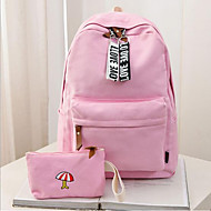 baratos Mochilas-Mulheres Bolsas Tela de pintura mochila Ziper / Vazados Rosa / Verde Claro / Khaki