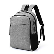 cheap Intermediate School Bags-Men's Bags Canvas Backpack Zipper Blue / Black / Gray