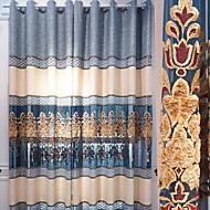billige Gardiner-gardiner gardiner Stue Moderne Bomull / Polyester Broderi