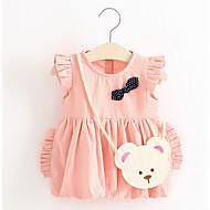 bebê Para Meninas Estampado Estampado Sem Manga Vestido / Fofo / Bébé