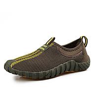 baratos Sapatos Masculinos-Homens Tule Primavera / Outono Conforto Tênis Cinzento Escuro / Castanho Claro / Verde Escuro