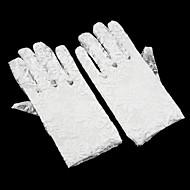 レース 手首丈 フラワーガール手袋 人造真珠  -  グローブ