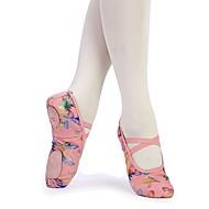 billige Kustomiserte dansesko-Jente Ballettsko Lerret Flate Sløyfe Flat hæl Kan spesialtilpasses Dansesko Rosa / Innendørs / Trening