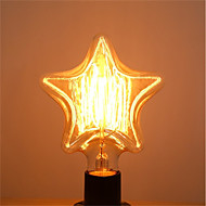 billige Glødelampe-1pc 40 W E26 / E27 Stjerne Varm hvit 2200-2700 k Kontor / Bedrift / Dekorativ Glødende Vintage Edison lyspære 220-240 V