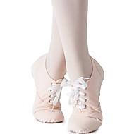 billige Kustomiserte dansesko-Jente Jazz-sko Lerret Joggesko Flat hæl Kan spesialtilpasses Dansesko Mandel / Innendørs / Trening