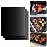 hesapli -Bakeware araçları Silikon Kauçuk Çok-fonksiyonlu / Isıya dayanıklı Sebze için / Et Dikdörtgen Pişirme Minderi & Gömlekleri 2pcs