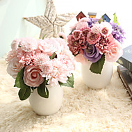 billige Kunstig Blomst-Kunstige blomster 8.0 Afdeling pastorale stil / Brudebuketter Krysantemum / Kamelia / Roser Bordblomst