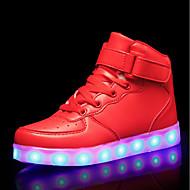 baratos Sapatos de Menino-Para Meninos Sapatos Couro Ecológico Outono & inverno Conforto / Tênis com LED Tênis LED para Branco / Preto / Vermelho / Casamento
