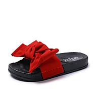 Mujer Zapatos Cuero / Piel / Aterciopelado Primavera / Otoño Confort / Innovador Zapatillas y flip-flops Tacón Cuña Pluma Negro / Marrón KxrEpox