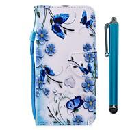 billiga Mobil cases & Skärmskydd-fodral Till Huawei Honor 9 Lite Honor 7X Korthållare Plånbok med stativ Lucka Magnet Fodral Fjäril Hårt PU läder för Huawei Honor 9 Lite