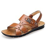 Homme Chaussures Formal Cuir Printemps / Automne Sandales Noir / Jaune / Marron / Décontracté