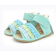 baratos Sapatos de Menina-Para Meninas Sapatos Tecido Verão Conforto Sandálias para Verde / Rosa claro