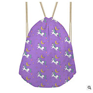 baratos Mochilas-Mulheres Bolsas Tela de pintura mochila Vazados Rosa / Roxo / Amarelo