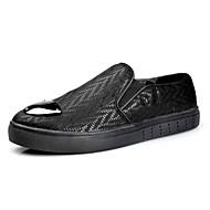 tanie Obuwie męskie-Męskie Buty PU Wiosna Jesień Lekkie podeszwy Mokasyny i pantofle na Casual Black Silver