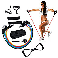 cheap Fitness Accessories-KYLINSPORT 12pcs Resistance Band Set Yoga Pilates Exercise & Fitness Home Workouts Gym Strength Training Rubber Physical Therapy
