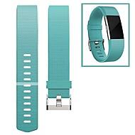 สายนาฬิกา สำหรับ Fitbit Charge 2 Fitbit หัวกลัดแบบโมเดิล Fluoroelastomer สายห้อยข้อมือ