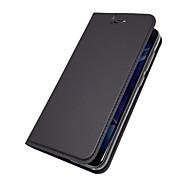 billiga Mobil cases & Skärmskydd-fodral Till Huawei Nova 2 Plus Nova 2 Korthållare med stativ Lucka Magnet Fodral Enfärgad Hårt PU läder för Huawei Enjoy 7S Huawei Enjoy