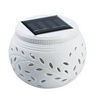 billiga Belysning-1st 1W Lawn Lights Sol Ljusstyrning Utomhusbelysning RGB + Vit 2V