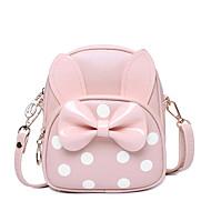 billige Skoletasker-Tasker PU Børne Tasker Sløjfe(r) Figurer Lyserød / Mælkehvid / Rosa
