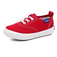 tanie Obuwie chłopięce-Dla chłopców / Dla dziewczynek Obuwie Płótno Wiosna Wygoda Adidasy na Biały / Czarny / Czerwony