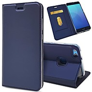 billiga Mobil cases & Skärmskydd-fodral Till Huawei P20 / P20 lite Plånbok / Korthållare / Lucka Fodral Enfärgad Hårt PU läder för Huawei P20 / Huawei P20 lite / P10 Plus