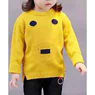 billige Sweaters og cardigans til babyer-Pige Bluse Geometrisk, Bomuld Efterår Langærmet Orange Grå Gul