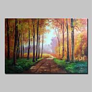 billiga Oljemålningar-Hang målad oljemålning HANDMÅLAD - Känd Landskap Traditionell Duk