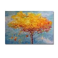 billiga Oljemålningar-Hang målad oljemålning HANDMÅLAD - Abstrakt Blommig / Botanisk Samtida Moderna Duk