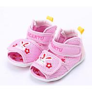 tanie Obuwie chłopięce-Dla dziewczynek Dla chłopców Buty Tiul Lato Buty do nauki chodzenia Comfort Sandały na Casual Niebieski Różowy Khaki