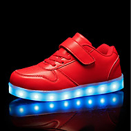baratos Sapatos de Menino-Para Meninos / Para Meninas Sapatos Couro Ecológico Primavera Tênis com LED Tênis LED para Crianças Branco / Preto / Vermelho