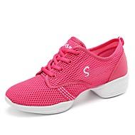 baratos Sapatilhas de Dança-Mulheres Tênis de Dança Arrastão Têni Recortes Sem Salto Personalizável Sapatos de Dança Fúcsia / Preto / Vermelho / Espetáculo