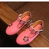 tanie Obuwie dziewczęce-Dla dziewczynek Buty PU Wiosna Jesień Tiny Obcasy dla młodzieży Buty dla małych druhen Szpilki na Casual White Peach Różowy