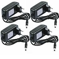 billige belysning Tilbehør-SENCART 4stk 100-240V Strip Light Tilbehør / US / EU Strømadapter Plast for LED Strip lys 24W