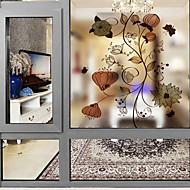 tanie סרטים ומדבקות לחלון-Folie okienne i naklejki Dekoracja Współczesny Kwiaty PVC Naklejka okienna Matowy / a
